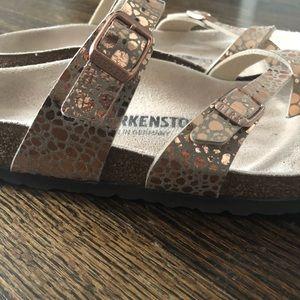b4d53158bf9f Birkenstock Shoes - Birkenstock Mayari Metallic Stones Copper